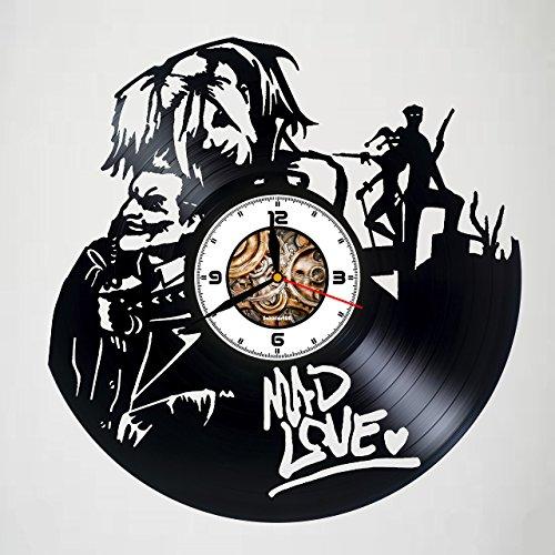 - Joker & Harley Quinn - Mad Love - Handmade Vinyl Record Clock - Best Gift - Kovides Vinyl Wall Clock - Home Décor - Silent Mechanism - Unique Original Gift - Art Design - Customize your clock !