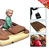EasyGoProducts Let Your Kids be Cozy Safe Travel Whether This Bambino Used at Home Portable Growing Toddler Bed Inflatable Rails