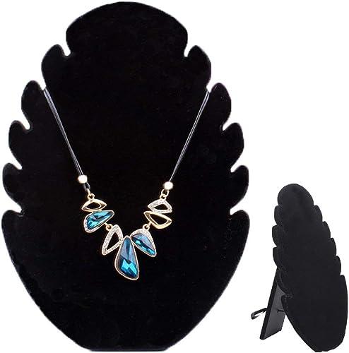Schmuckständer aus Samt  Anzeige für Schmuck-Halsketten-Kette Schwarz