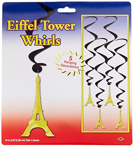 Beistle 54281 Eiffel Tower Whirls, 34-Inch]()