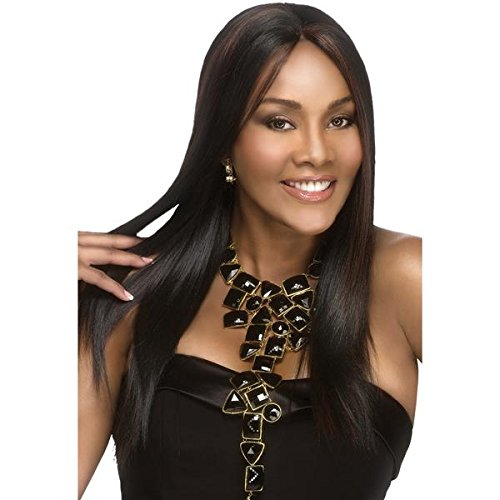 BEVERLY JOHNSON Lace Front Synthetic Wig-JAVANT-Color#1B-Off (Beverly Johnson Synthetic Wig)