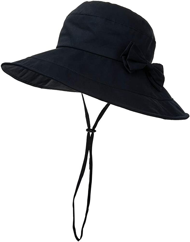 Womens Packable Sun Bucket Travel Hat with String Beach SPF Protection Fishing Bonnie 56-59cm