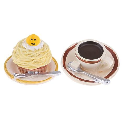 KESOTO Desayuno de Modelo de Postre de Comida en Miniatura para 1/12 Accesorio de