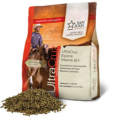 UltraCruz Equine Vitamin B-1 Supplement for Horses, 2.5 pounds
