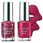 Lakme Color Crush Nailart, G9, 6ml and Lakme Color Crush Nailart, M5 Burgundy, 6 ml