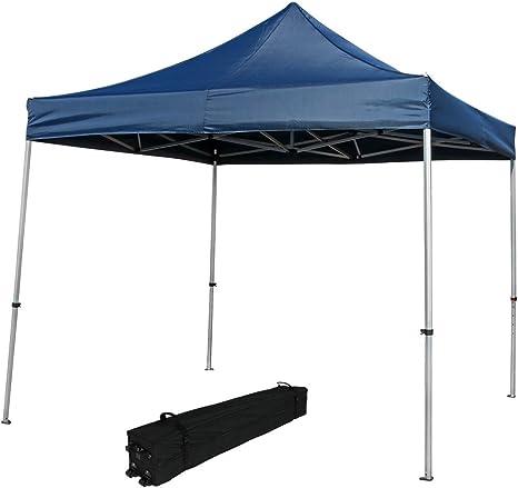 Sunnydaze Heavy-Duty de Grado Comercial Aluminio Straight Leg Quick-up instantánea Canopy Caso Vivienda, 10 x 10 pies, Incluye Rolling Bolsa: Amazon.es: Jardín