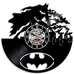 Unique Modern Design Batman Theme Vinyl Wall Clock Gift