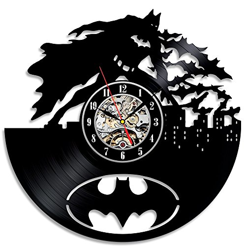 Unique Modern Design Batman Theme Vinyl Wall Clock Gift