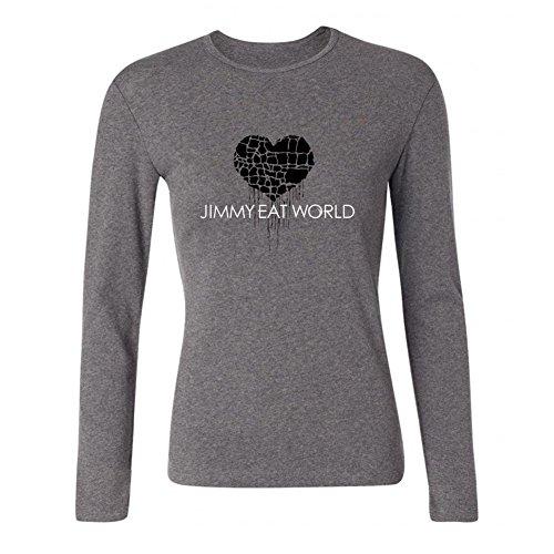 (XIULUAN Women's Jimmy Eat World Band Hardcore Punk Logo Long Sleeve T-shirt Size M)