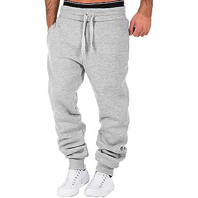 CLOOM Pantalones Hombre Chandal para Verano Color Sólido ...