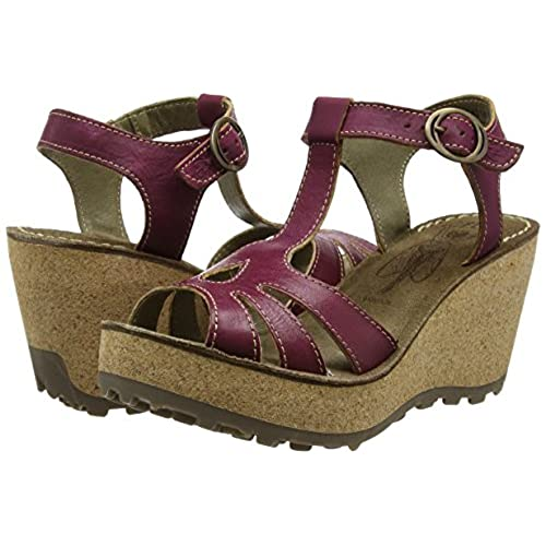 FLY London Women's Gold Ankle-Strap Sandal well-wreapped