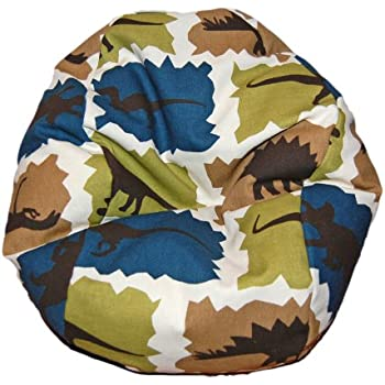 Ahh! Products Dinosaurs Blue Bean Bag Chair For Dolls