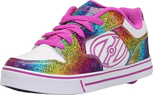 Heelys Kids Motion Plus White/Rainbow/Hot Pink Sneaker - 3