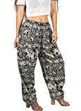 Cheap Tribe Azure Women Elephant Pants Harem Yoga Casual Summer Beach Boho Bohemian Hippie Gypsy Pajama Genie (X-Large)
