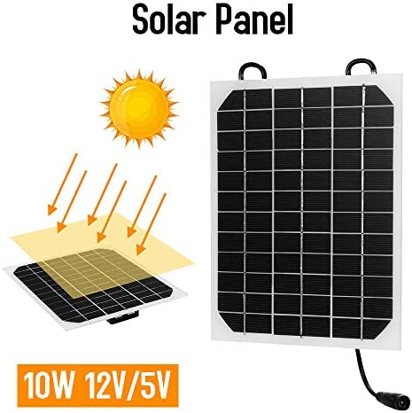 Decdeal Solar Panel Solarzelle Ladegerät 10W 12V / 5V USB Anschluss Solarmodule