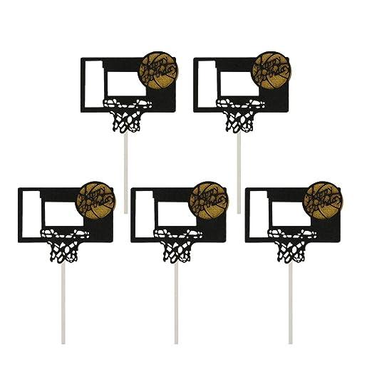 Amosfun - 5 Marcos de Baloncesto y Baloncesto de cumpleaños ...
