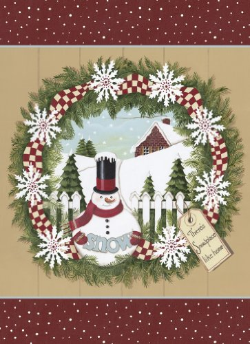 Legacy Deluxe Boxed Christmas Cards, Snowman Wreath, (20 Snowman Wreath)