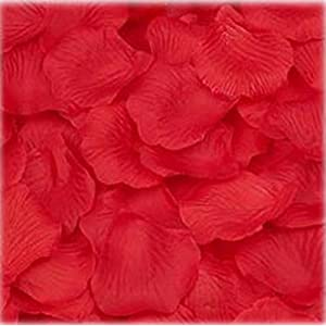 Super Z Outlet Silk Fabric Flower Mini Rose Petals for Weddings (1000 Pieces) 18