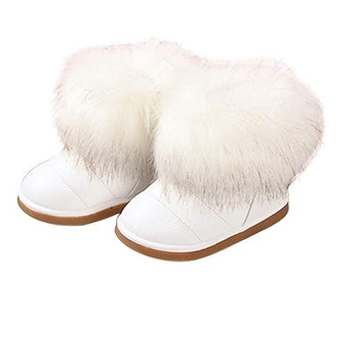 KVbaby Botas de Nieve para Niños Invierno Botines Calentar Botas De Nieve Ante Anti-Deslizante Zapatos Botas de Trabajo: Amazon.es: Zapatos y complementos