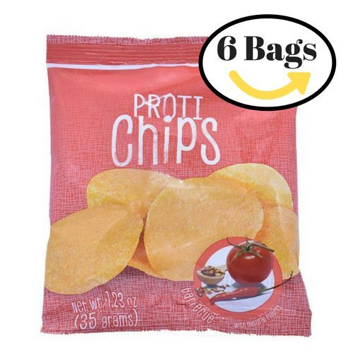 ProtiWise - High Protein Diet Chips | BBQ | Low Calories, Sugar Free, Low Carbs ( 6 Bags ) by Proti Wise