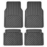 2012 camaro vinyl - FH Group F11308 All Weather Vinyl Floor Mats (Full Set Trimmable Custom Fit), Gray Color