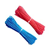 light blue lead rope - ThreeBulls 1.8mm Fluorescent Reflective Guyline Tent Rope Camping Cord Paracord (Blue,Red, 20m)