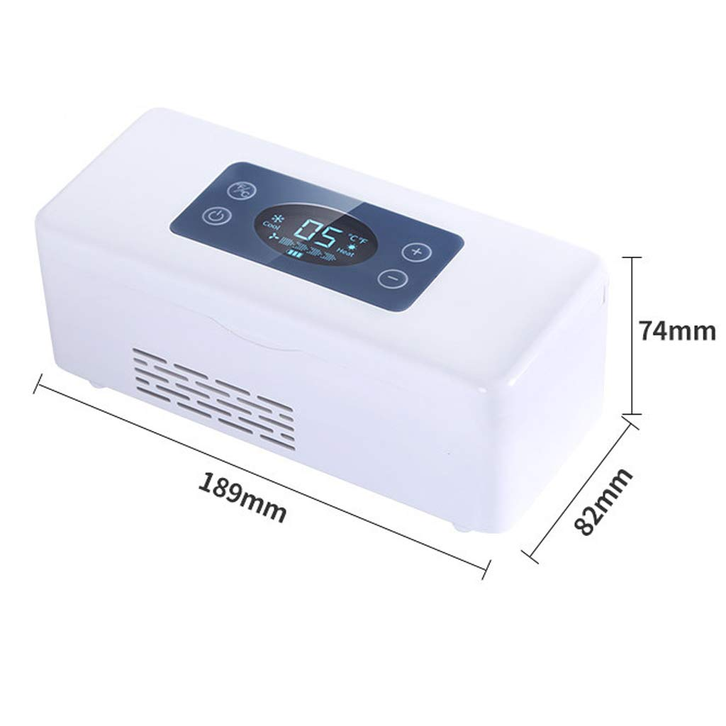 ABC - Nevera portátil para coche, mini congelador de insulina, 2 ...