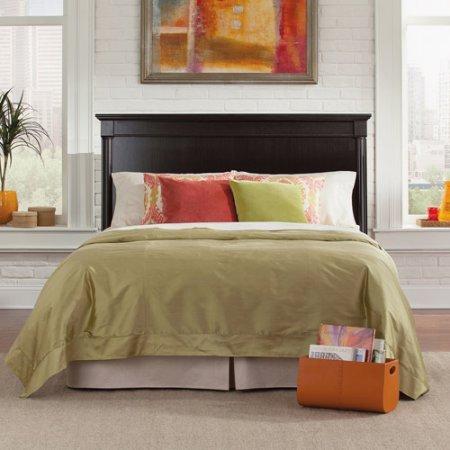 Lattice Sleigh Bed (Sauder Palladia Full/Queen Headboard - Waxed)