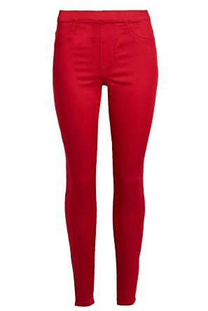 ecbe53ca4393 Ex Marks & Spencer Womens Ladies High Waist Coloured Super Skinny Jeggings  Jeans Red Size 6S