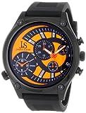 Joshua & Sons Men's Quartz Stainless Steel and Polyurethane Casual Watch, Color:Black (Model: JS713OG)