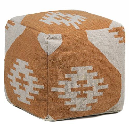 Chandra Rugs Wool Pouf, 18