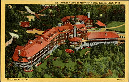 Airplane View Of Mayview Manor Blowing Rock, North Carolina Original Vintage Postcard by CardCow Vintage Postcards