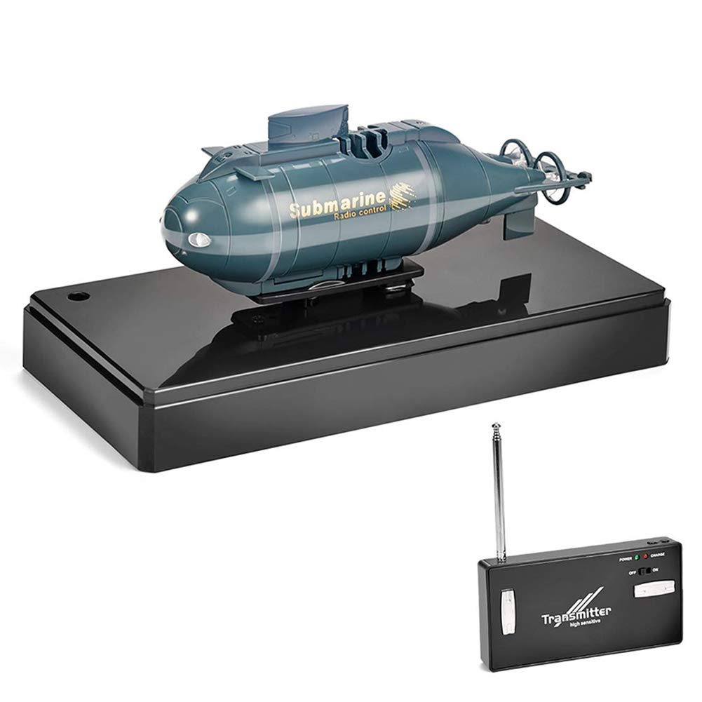 bluee Hppgame Mini Remote Control Submarine RC Race Boat Ship High Speed Waterproof Diving in Fish Tank Pools Lake, Best Gift for Kids