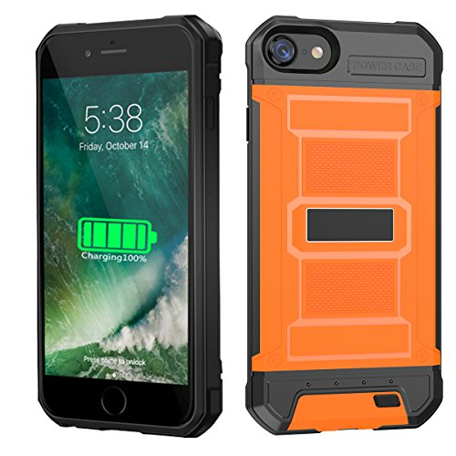 New for iPhone 6 Plus Charging Case, Battery Case for iPhone 7 Plus/8 Plus, Ultra Slim iPhone Backup Battery with 4200 mAh Capacity, Heavy Duty Protection Battery Charger Case -Orange orange iphone 7 plus case 16