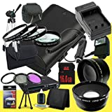 Canon EOS 70D DSLR Camera with 18-55mm STM f/3.5-5.6 Lens LP-E6 Lithium Ion Replacement Battery and External Rapid Charger + 16GB SDHC Class 10 Memory Card + 58mm 3 Piece Filter Kit + Full Size Tripod + 58mm Macro Close Up Kit + 58mm 2x Telephoto Lens + 5