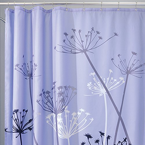 interdesign thistle fabric shower curtain 72 x 72 inch purple gray new ebay. Black Bedroom Furniture Sets. Home Design Ideas