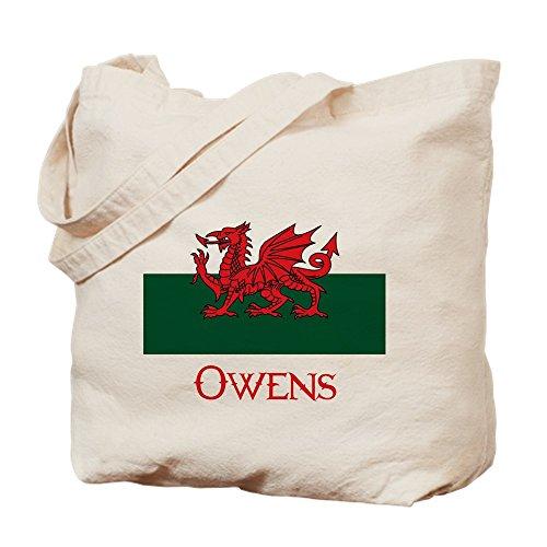 CafePress–Owens Walisische Flagge–Leinwand Natur Tasche, Reinigungstuch Einkaufstasche, canvas, khaki, S