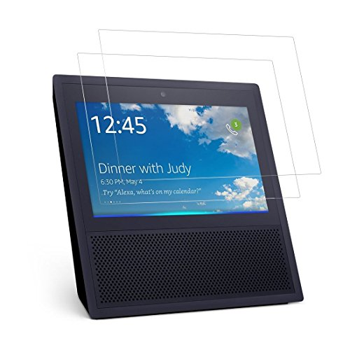 GLASS-M Amazon Echo Show Screen Protector Glass (2-Pack), High Definition, Strong Adhesion, Bubble Free Full Coverage Tempered Glass Screen Protector for Echo Show 2017 ()