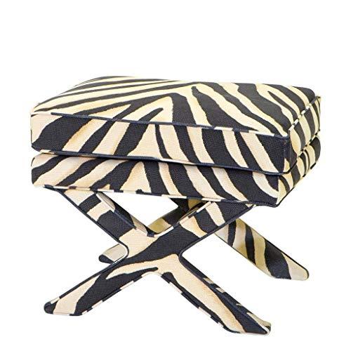 Cordoba Storage Ottoman - Zebra Ottoman | EICHHOLTZ Cordoba | Animal Pattern Modern Accent Stool | Modern Luxury Black & White Print Bench