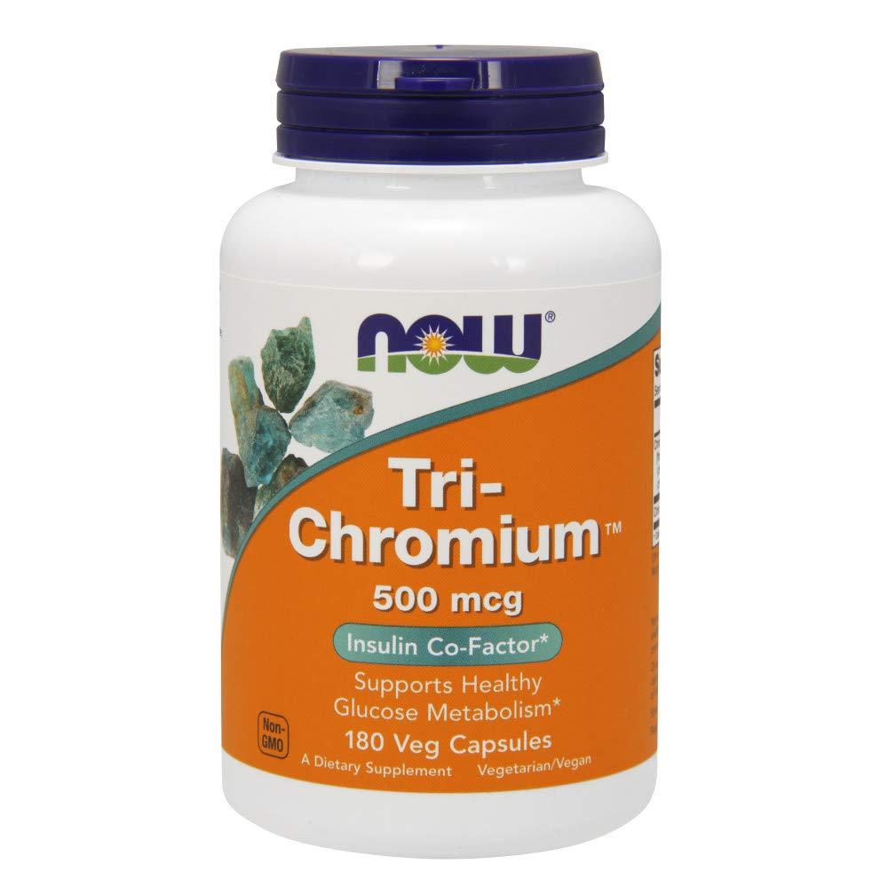 Now Tri-Chromium 500 mcg with Cinnamon,180 Veg Capsules