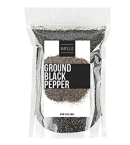 Hayllo Pure Table Ground Black Pepper 28m, 12 Ounces by Hayllo