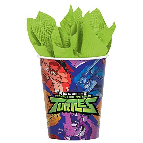 (Amscan International TMNT Amscan 582209 266ml Paper Cups 8 Pack The Rise of Teenage Mutant Ninja Turtles,)