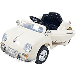 Lil' Rider Ride On Toy Car, Battery Operated Classic Sports Car With Remote Control and Effects by Rockin ' Rollers – Toys for Boys and Girls 2 – 5 Year Olds