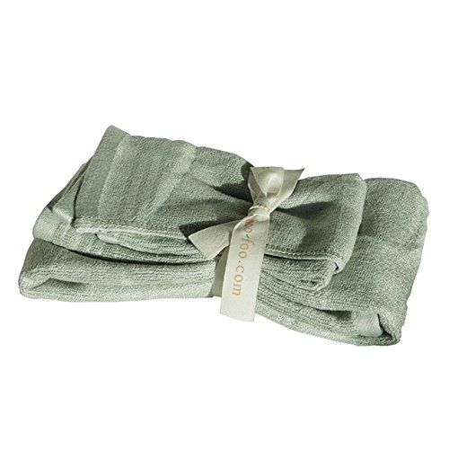 SHOO-FOO Luxurious Organic Bamboo Hand Face Towels Set  100%
