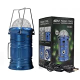 Haoerliang 3 in 1 LED Rechargeable Party Disco Light ,Camping Lantern and Emergency Hand-held Flashlight with USB Port Available,Suitable for hiking, camping,outdoor, fishing, party (Blue)