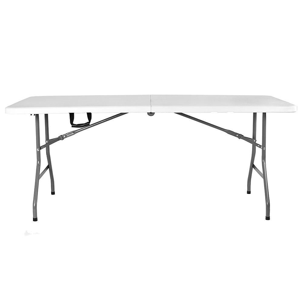 4 feet Home Vida Heavy Duty Trestle Picnic Folding Table Silver