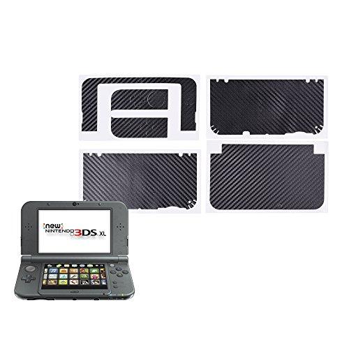 COSMOS Black Color Carbon Fiber Protector Protective Skin Decal for Nintendo 3DS / 3DS XL NEW - Colour Fibre Carbon