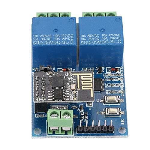 ESP8266 Dual Channel WiFi Relay Board On-board ESP-01 Smart Home Phone APP Remote Switch Module 5940mm