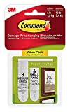 Command Picture Hanging Strips 55CDT, 4-Small, 8-Medium, 2 Pack