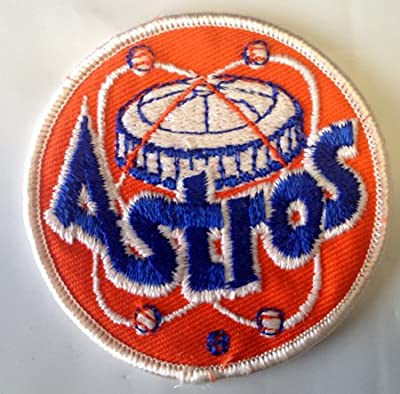 Vintage Sports Novelty Iron On Patch - Houston Astros MLB Baseball Logo Applique
